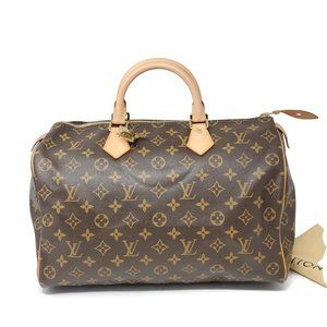Louis Vuitton Monogram Speedy 35 Boston Hand Bag